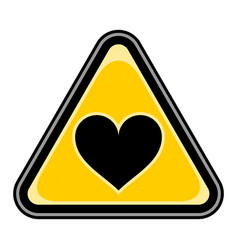 heart sign triangular sticker vector image