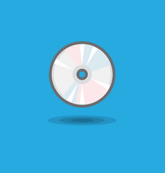 icon cd drive for computer or music cd disk vector image