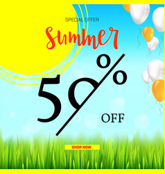Summer selling ad banner vintage text design vector