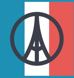 Pray for paris symbol vector