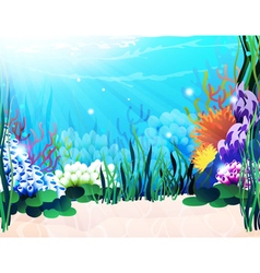 Underwater plants vector