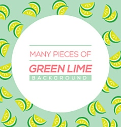Many pieces of green lime vector