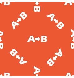 Orange a to b pattern vector