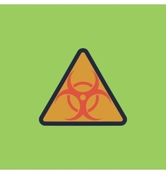 Biohazard symbol icon isolated vector