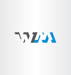 Letter w and m logotype logo icon vector
