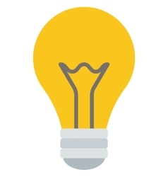 Yellow light bulb vector