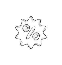 Discount tag sketch icon vector
