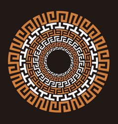 ancient greek round meander key vector image vector image