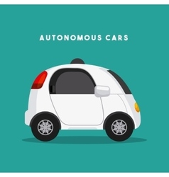 Autonomous car design vector