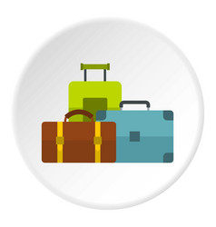 Baggage icon circle vector