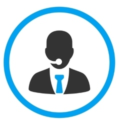 Call Center Operator Circled Icon vector image