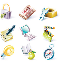 cartoon style set vector image vector image