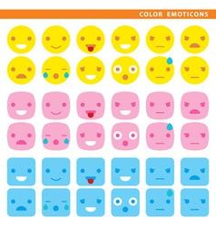 Color emoticons vector image vector image