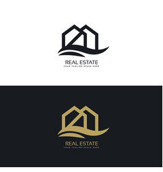 elegant house logo design template vector image vector image