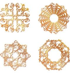 Gold lace symbols vector