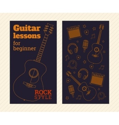 Guitar poster vector image