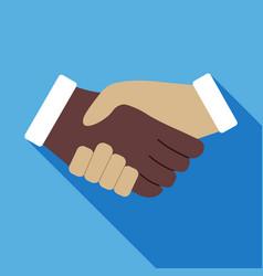 Handshake icon business concept vector