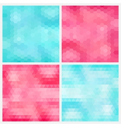 Happy abstract aquamarine and pink geometric vector image vector image