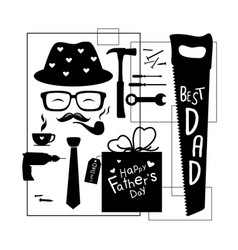 happy fathers day design on white background vector image