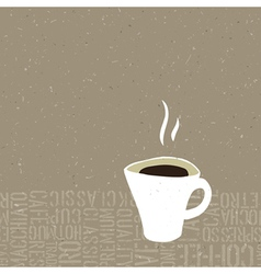 hot coffee cup concept vector image vector image