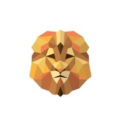 Leo golden orange mane low poly style of modern vector