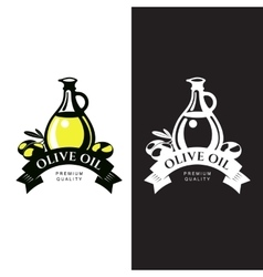 Logo Set about olive oil vector image vector image