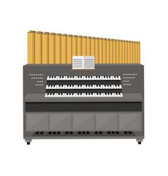 old electronic piano organ vector image