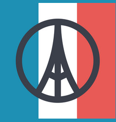 pray for paris symbol vector image