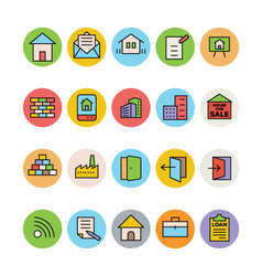 Real estate icons 7 vector