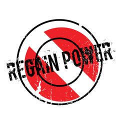 regain power rubber stamp vector image vector image