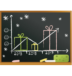 School blackboard with gifts vector