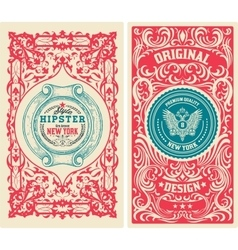 Set of old card vector