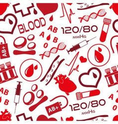 Simple blood icons seamless pattern eps10 vector