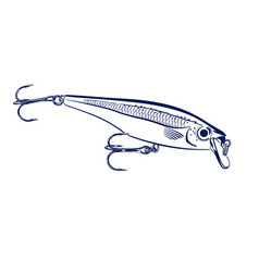 Spinning lure wobblers vector