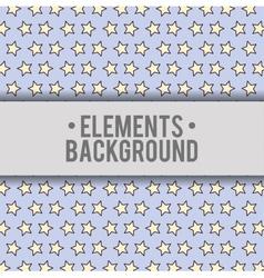 Stars background elements design vector