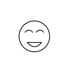 too happy emoticon vector image