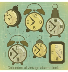 Vintage alarm clocks vector