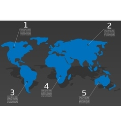 World map infofraphic vector image