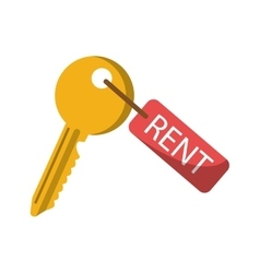 Isolated rent key design vector