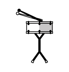 Drums battery isolated icon vector