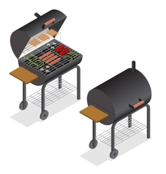 Barbecue isometric view vector