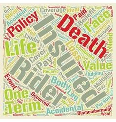 Term life insurance with accidental death and vector