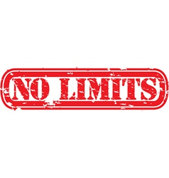 No limits stamp vector