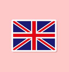 Paper sticker on stylish background britain flag vector