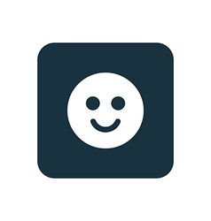 Smile icon rounded squares button vector