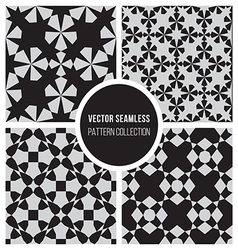 Seamless bw geometric pattern collection vector