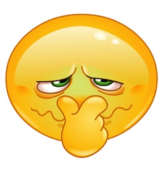 bad smell emoticon vector image