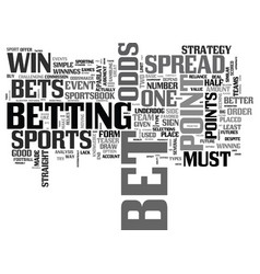 Bet on sports like a pro text word cloud concept vector
