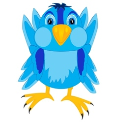Cartoon of the bird sparrow vector image vector image