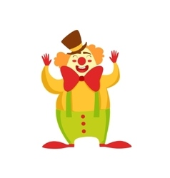 Clown entertainer kids birthday party happy vector